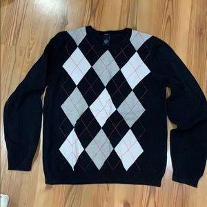 IZOD preppy diamond sweater top Large